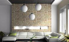 Wandgestaltung Wohnzimmer Rot Ideen:Brick Wall Living Room Designs