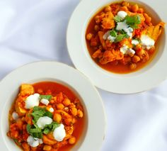 Moroccan Fish and Chickpea Curry - ready in a few minutes, the perfect healthy mid-week meal.
