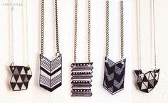 Shrinky-dink necklaces