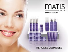 The beautiful new Reponse Jeunesse line available at Matis Fourways :-) Paris Beauty, Best Sellers, Salons, Skin Care, Cosmetics, Beautiful, Youth, Lounges, Skincare Routine