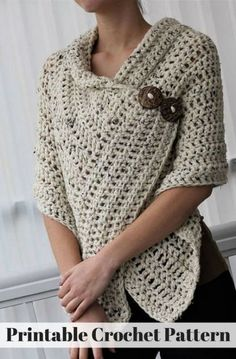 Crochet Patterns Jacket Image interface for scaldacuore crochet MarLove, love, love this easy crochet shawl! Perfect for spring days ahead. Use existing wrap, add buttons Crochet Patterns Shawl I love this shawl for Spring weather! It also doesn't hurt th Cardigan Au Crochet, Gilet Crochet, Knit Crochet, Crochet Hats, Easy Crochet Shawl, Poncho Scarf, Crochet Shrugs, Crochet Fabric, Crochet Flowers