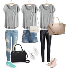 Designer Clothes, Shoes & Bags for Women Frame Denim, Polyvore Fashion, Yves Saint Laurent, Kate Spade, Michael Kors, Shoe Bag, Nike, Casual, Stuff To Buy