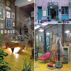Colmado La Miranda  @rogerguisante #creacion #taller #esculturas #escaparatismo #flores #objetos #reciclaje #hallazgocurioso #rinconespecial #lugar