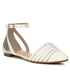Antonio Melani Cable Ankle Strap Pointy Toed Flats #Dillards