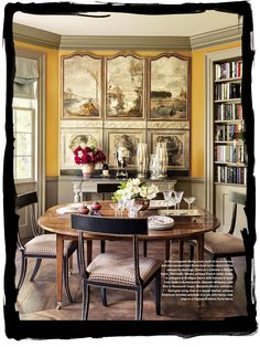 These chairs!!   Veranda magazine.  Have some decorum. Thank you Ellie