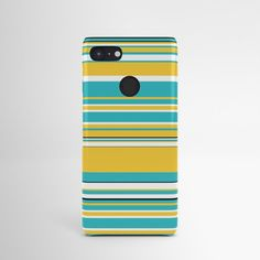 Complex Stripes - Turquoise and Yellow Android Case by laec | Society6 Samsung Galaxy S9, Galaxy S8, Iphone Skins, Iphone Cases, Google Phones, Case 39, Android, Stripes