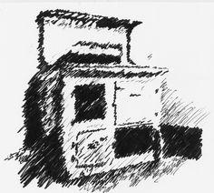 Rayburn, hand sketch www.juliewilliamsondesigns.co.uk