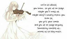 Shigatsu wa Kimi no Uso I Feel Depressed, Miyazono Kaori, Lyric Poetry, Just Letting You Know, Lyric Quotes, Lyrics, You Monster, Your Lie In April, Manga Quotes