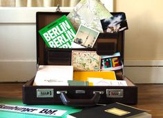 Suitcase with German stationery
