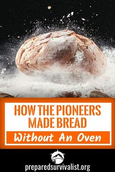 What do you do when you are a pioneer without the luxury of an oven and want to eat bread. Simple You make bread without an oven and instead you use a frying pan or even a stick. We'll share with you 3 different recipes to make your own bread without need Emergency Food, Survival Food, Survival Skills, Survival Hacks, Emergency Preparedness, Survival Prepping, Outdoor Survival, Survival Weapons, Emergency Preparation