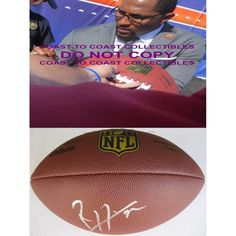 Ray Lewis Baltimore Ravens, Signed, Autographed, NFL Duke Football, a COA with the Proof Photo of Ray Signing Will Be Included
