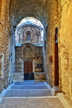 Famous byzantine church in Chios island Walk Around The World, Around The Worlds, Chios Greece, Christian World, Greek Isles, Cathedral Church, Greece Islands, 11th Century, Medieval Town