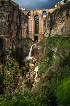 Puente Nuevo, Ronda, Spain. Go to www.YourTravelVideos.com or just click on photo for home videos and much more on sites like this.