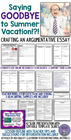 Attention getters for argumentative essays on school
