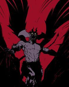 Devilman, Fabio SHINDRA Danisi on ArtStation at https://www.artstation.com/artwork/lvmk5