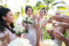 Jennifer and Arnold at Secrets Royal Beach #ceremony #wedding #secrets