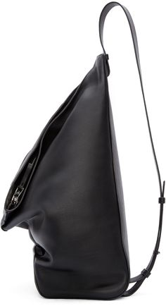 Loewe Black Leather Crossbody Backpack
