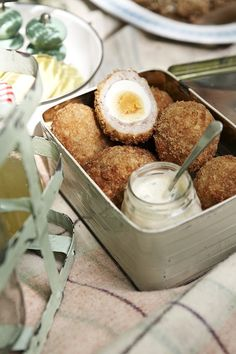 Scotch eggs with hot curry mayo  - countryliving.co.uk