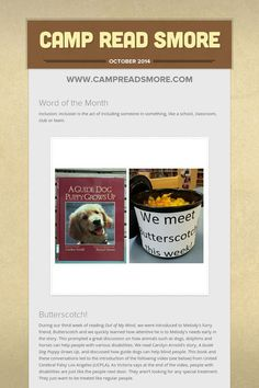 Camp Read Smore Out Of My Mind, Reading Challenge, October 2014, Classroom, Camping, Education, Words, Class Room, Campsite