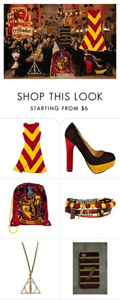 """""""Griffindor ( Harry Potter )"""" by jayandi-nikatenaa ❤ liked on Polyvore featuring Slater Zorn, Luichiny and IVI"""