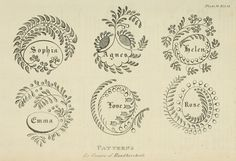 EKDuncan - My Fanciful Muse: Regency Era Needlework Patterns from Ackermanns Repository 1821-1825