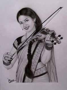 Pencil Art, Pencil Drawings, Indian Women Painting, Andy Warhol Art, Woman Painting, Wonder Woman, Superhero, Anime, Fictional Characters