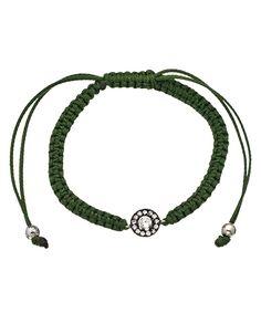 Belair Green CZ Stud Macrame Bracelet  Price: $45.00