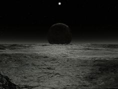 Jeff Bryant's Vistapro landscape renderings and space-art. Dark Planet, Moon Pictures, Far Away, Outer Space, Science And Technology, Night Time, Twilight, Planets, Sci Fi