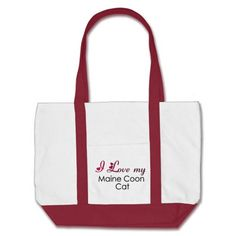 I Love my Maine Coon Cat Tote Bags