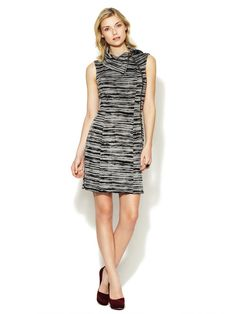 Morgan Printed Zipper Front Sheath by AMY MATTO on Gilt.com
