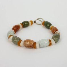 Jade Bracelet on a Silver Lock - Fashion Jewellery by Gems-B