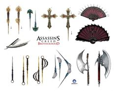 Weapons 2 by Anaïs Bernabé - Game: Assassin's Creed Brotherhood