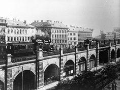 1918 wurde die Stadtbahn noch mit Dampf betrieben.