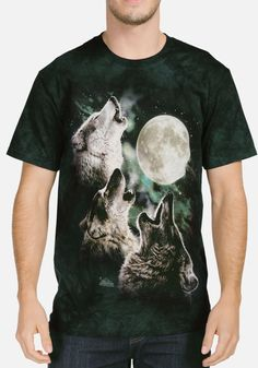 767c6a18382 The Mountain Adult Unisex T-Shirt - Three Wolf Moon Classic