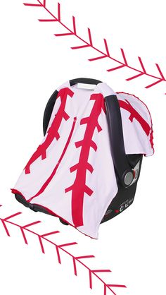 You can take your baby out to the ball game with this baseball stitched car seat cover. http://www.amazon.com/Kids-Such-Breathable-Year-round-Fashionable/dp/B00ZB4Z41A/ref=sr_1_38?s=baby-products&ie=UTF8&qid=1440852675&sr=1-38&keywords=carseat+canopy