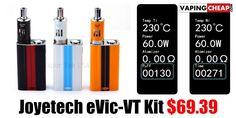 Joyetech eVic-VT Kit $69.39 - http://vapingcheap.com/joyetech-evic-vt/