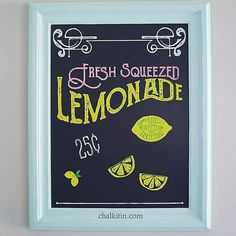 Chalk Couture - Get ready for summer with the Lemonade {chalk transfer} #chalkcouture (via Kristy Preacher)