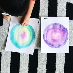 Today's #readandmake post is based upon the book, The Dot, by Peter Reynolds. We made dots using watercolors. Although it's a simple art activity, the end results are masterpieces. All you need are watercolors, paper, tape, and a paintbrush. Read more here.