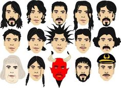 The many faces of Dave- Foo Fighters