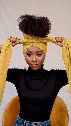 Hair Wrap Scarf, Hair Scarf Styles, Long Hair Styles, African Hair Wrap, African Head Wraps, African Braids Hairstyles, Scarf Hairstyles, Black Hairstyles, Natural Hair Moisturizer
