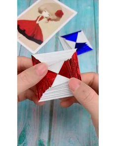 Cool Paper Crafts, Paper Crafts Origami, Diy Paper, Fun Crafts, Paper Art, Paper Craft Work, Paper Folding Crafts, Origami Gifts, Paper Flowers Craft