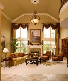 2 story window treatment | For the Home / 2-story window treatment