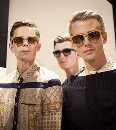 Splash Sunglasses backstage at the Burberry Prorsum show