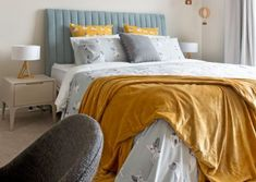 Kid's bedroom with hot air balloons! along with your loyal friend Frankie the bulldog all over the bed linen in this contemporary styled bedroom.  #kemoodesign #bedroom #kidsroom #bulldog #linen #bedsheet #teal #blue #mustard #yellow #cushion #pillow #europillow #australia #interiordesign #interiorstyling #childrenbedroom #furniture #bedsidetable #tablelamp #taskchair #throw #hotairballoon #balloon #floating #interiordecor #decoration #featuredesign #design #melbourne #victoria