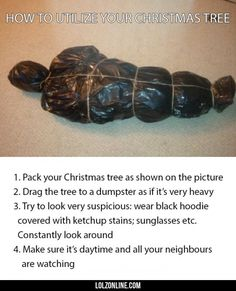 Getting Rid Of Your Christmas Tree.#funny #lol #lolzonline
