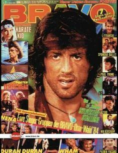 Sylwester Stallone, bravo, cover magazine, Rambo