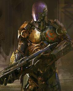 By Unknown artist . . . #empireoffuture #smoke #scifi #fantasy #art #digitalart #devianart #war #amazing #style #life #little #girl #adventure #cyberpunk #cyber #sketch #instadaily #inspiring #swat #soldier #armor #specialforces #exosuit #armorsuit #cyborg #usa #gun #guns #18