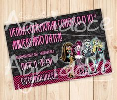 Convite Virtual Monster High