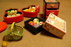 I Love Kyoto~ Celebration Sweets Tiny Food, Rement, Barbie Stuff, Mini Things, Miniature Food, Japanese Food, Kyoto, Food Dishes, Celebration