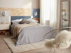 Tête de lit en panneau OSB peint, un style brut